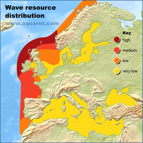 Latitude Map Of Europe.4 Wave
